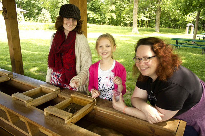 Guests Panning at Prospector Creek