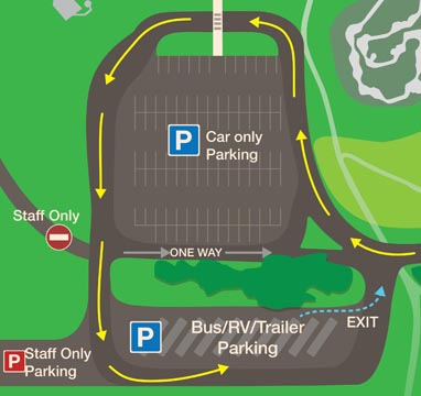 RV and TRailer Parking Lot Map