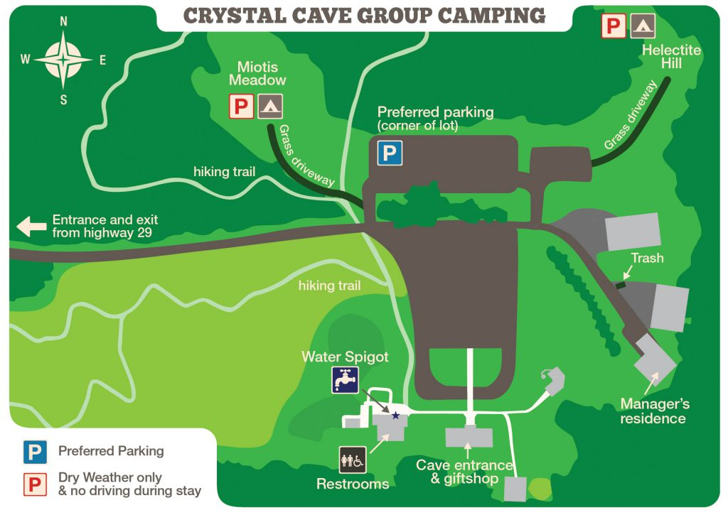 Map of group Camping Sites